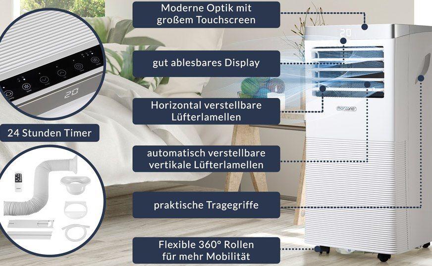 Monzana Klimaanlage MZKA1000 mit Abluftschlauch, 9000 BTU/h & App Steuerung für 249,95€ (statt 275€)