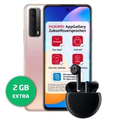 Huawei P Smart 2021 inkl. Huawei Freebuds 3 für 1€ + o2 Allnet-Flat von Blau mit 10GB LTE für 11,99€ mtl.
