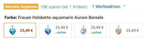 Alex Perry Halskette Bauhinia Blüte aus 925er Sterling Silber und Kristall für 15,49€ (statt 25€)   Prime