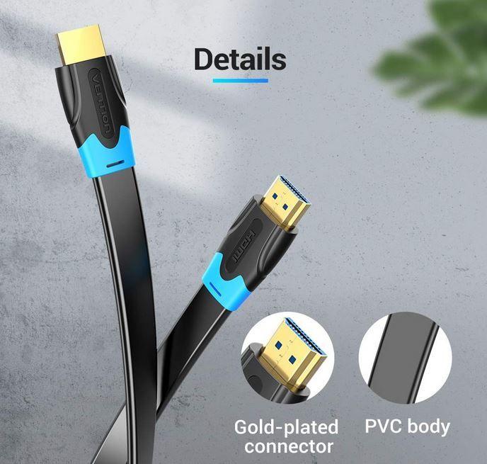 VENTION HDMI 2.0 Flach Kabel 1m für 4€ (statt 10€) – Prime