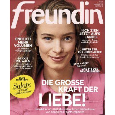 """12 Ausgaben im Halbjahresabo der """"Freundin"""" für 1€ (statt 43€)"""