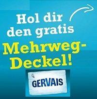 Bei Gervais Mehrwegdeckel gratis bestellen