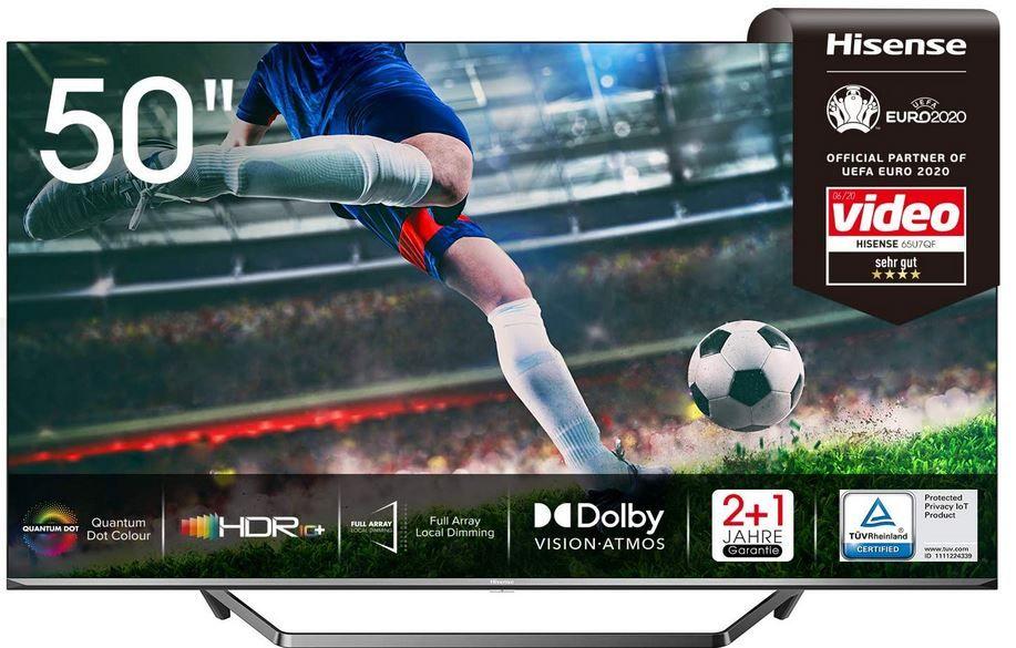 Hisense 50U7QF QLED 50Zoll UHD smart TV ab 495,88€ (statt 579€)