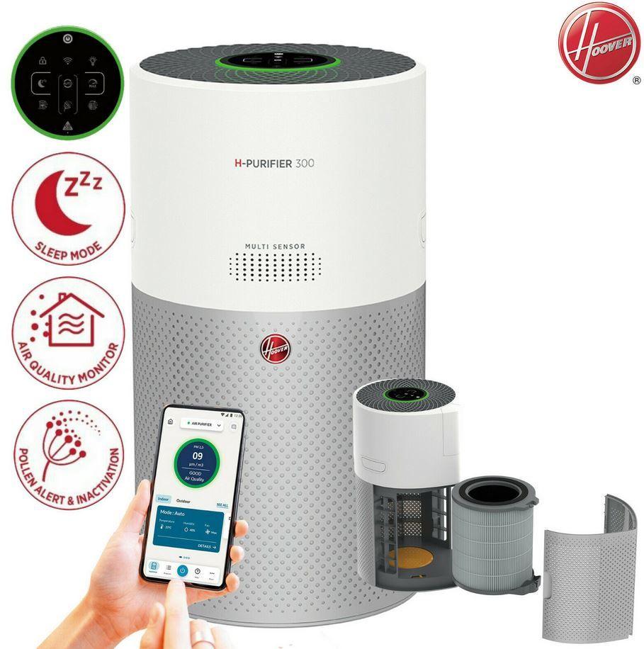 Hoover H-purifier 300 – App gesteuerte Luftreinigung bis 100qm für 179,90€ (statt 249€)