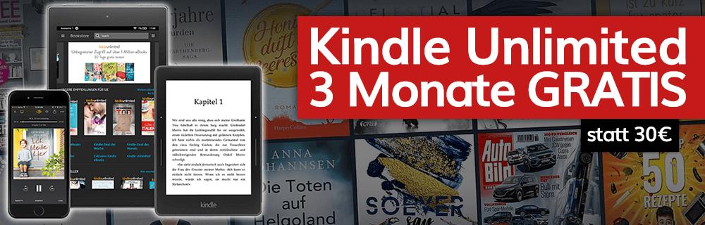 Kindle Unlimited 3 Monate gratis – für Neukunden