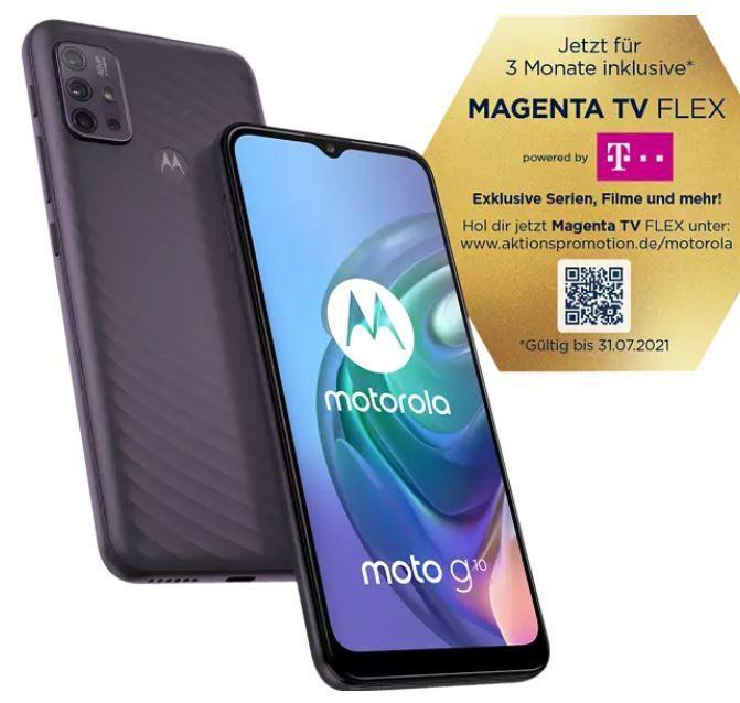 Media Markt & Saturn Smartphone Fieber – z.B. MOTOROLA G10 64 GB Grau Dual SIM für 123€ (statt 147€)