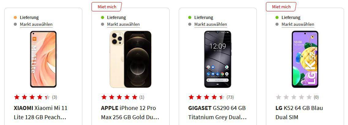 Media Markt & Saturn Smartphone Fieber   z.B. APPLE iPhone 11 256GB Gelb für 739,25€ (statt 775€)