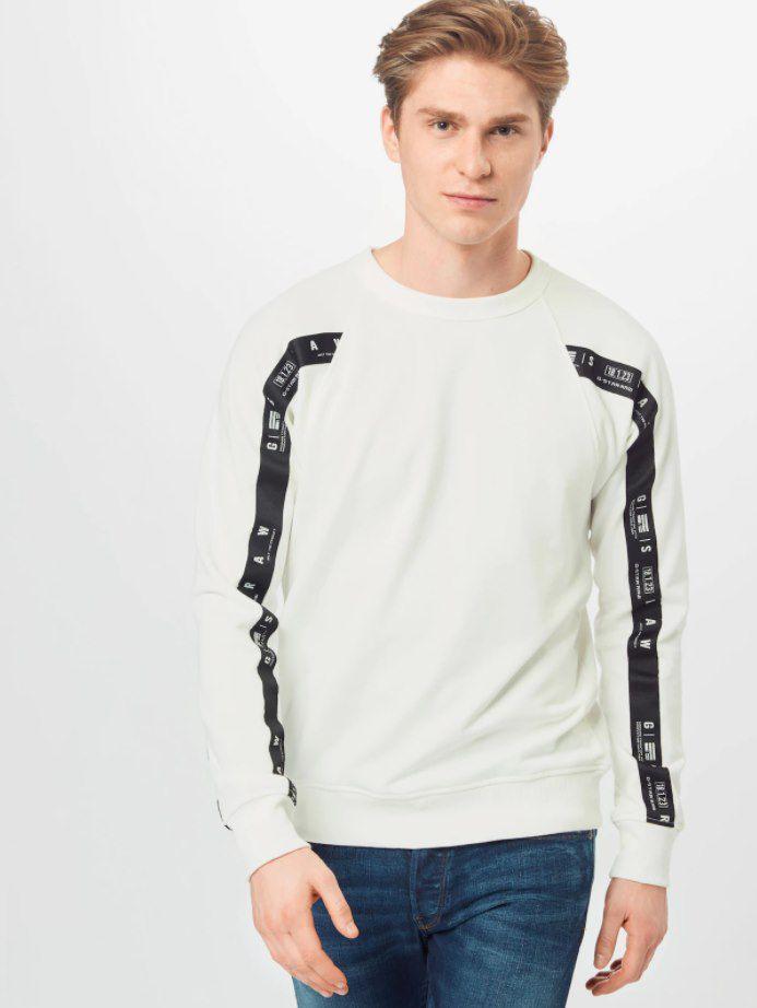 G Star RAW Raglan Taping Sweatshirt in Weiß für 34,90€ (statt 53€)