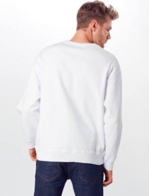 Levis Relaxed Graphic Crewneck Sweatshirt in Weiß für 29,94€ (statt 43€)