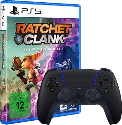 Sony DualSense Controller Midnight Black + Ratchet & Clank: Rift Apart PS5 für 90,99€ (statt 136€)