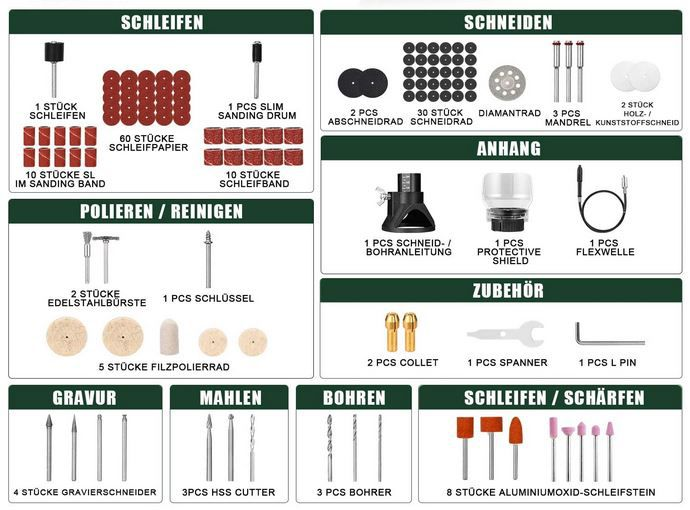Autolead ACDM01 Multifunktionswerkzeug mit umfangreichen Zubehör für 19,99€ (statt 40€)
