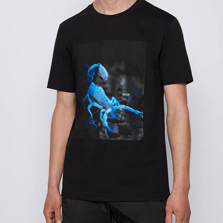 Boss Herren T Shirt Terisk in schwarz für 49,76€ (statt 60€)