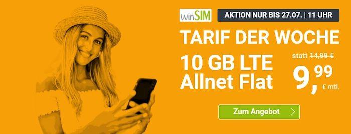 winSIM: Allnet Flat im O2 Netz mit 10GB LTE für 9,99€mtl. (statt 15€)   oder 5GB für 6,99€