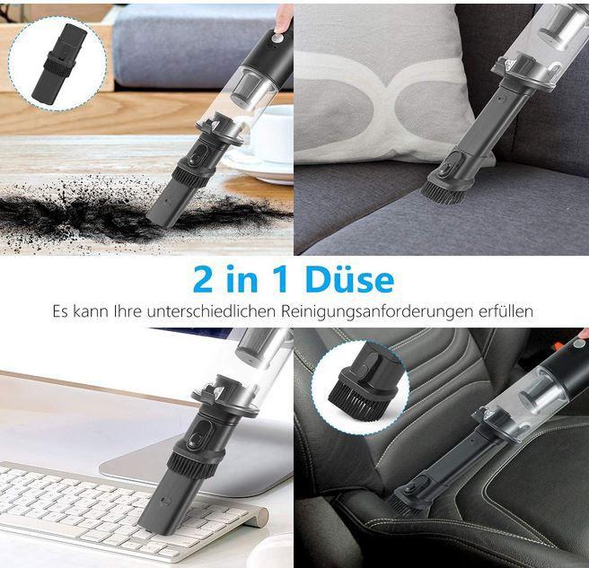 REIOT Akku USB Handstaubsauger mit 2 Düsen für 18,49€ (statt 37€)