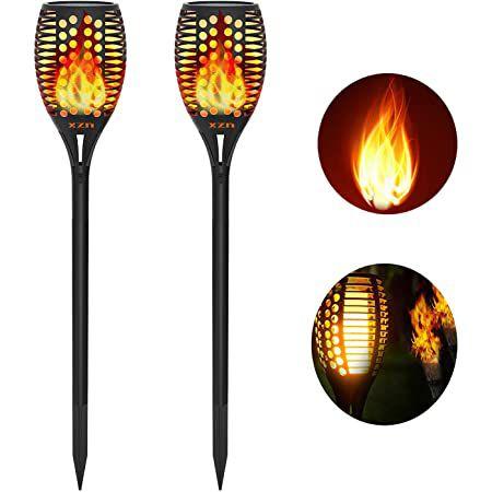 2er Pack: XZN Solar LED Gartenfackeln mit 96 LEDs und Flammeneffekt für 27,99€ (statt 40€)