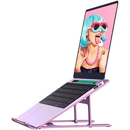 LORYERGO Laptop Ständer bis 15,6 Zoll in Rosa für 4,50€ – Prime