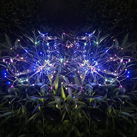 2er Pack: Helesin LED Solarleuchten Feuerwerk für 13,64€ (statt 20€)   Prime