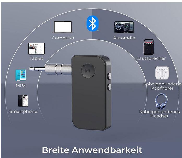 MW Audio NY   Bluetooth 5.0 Empfänger für 6,99€ (statt 14€)  prime