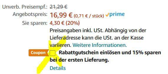 BECKS Gold Lager Palette 24 Dosen je 0,5l für 13,40€ (statt 29€)