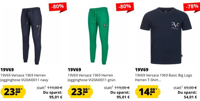 19V69 Versace Sale + 5€ Extra Rabatt ab 60€   z.B. Poloshirts ab 15,99€