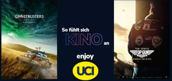 1 UCI Kinogutschein für alle 2D Filme + Popcorn klein + 0,5 l Softgetränk oder Bier für 9,99€