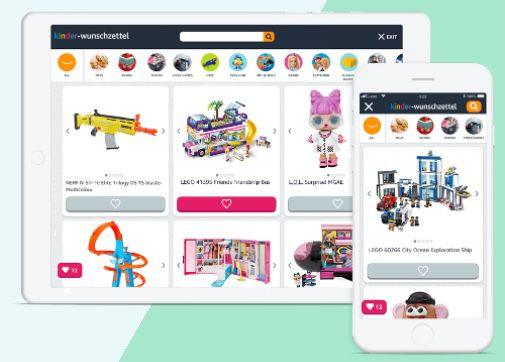 Amazon: Kinder Wunschliste erstellen und 10% Rabatt ab nur 25€ erhalten