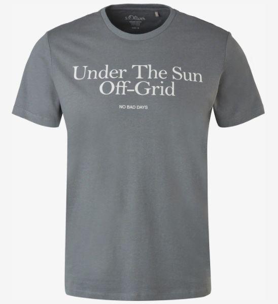 s.Oliver T Shirt in Grau bis Größe 3XL für nur 9,09€ (statt 13€)