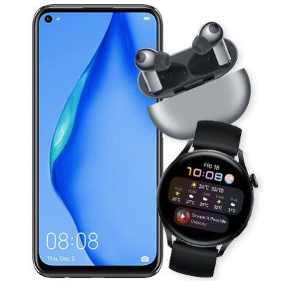 🔥 Huawei P40 Lite + Watch 3 LTE + FreeBuds Pro für 25€ + o2 Flat mit 10GB LTE für 20,99€ mtl.