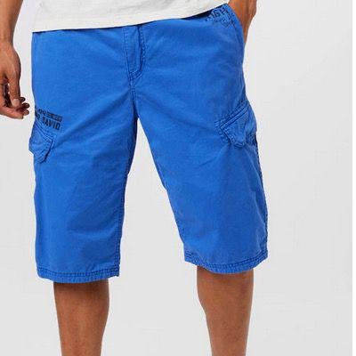 CAMP DAVID Bermudas mit Cargo Taschen in Blau für 33,96€ (statt 49€)