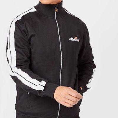 ELLESSE Sportsweatjacke Giandoso in Schwarz Weiß für 38,94€ (statt 52€)   S bis L