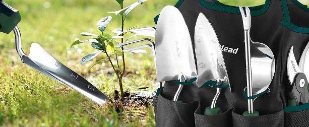 AUTLEAD Gartenwerkzeug Set GGT4A 7 teilig aus Edelstahl inkl. Tasche für 22,99€ (statt 40€)