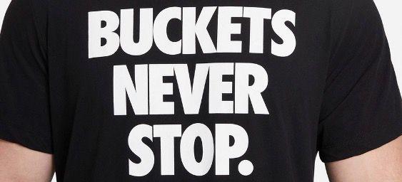 Nike Herren T Shirt BA Dri FIT Buckets Never Stop Me in S bis 2XL für 16,70€ (statt 25€)