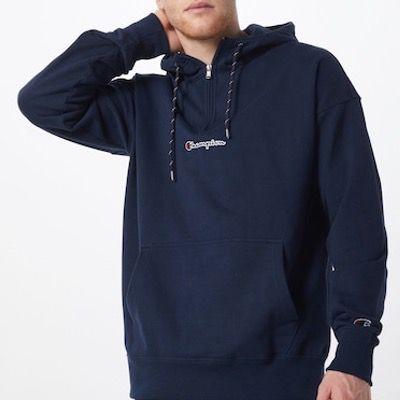 Champion Authentic Athletic Apparel Hoodie in Navy oder Schwarz für 32,94€ (statt 45€)