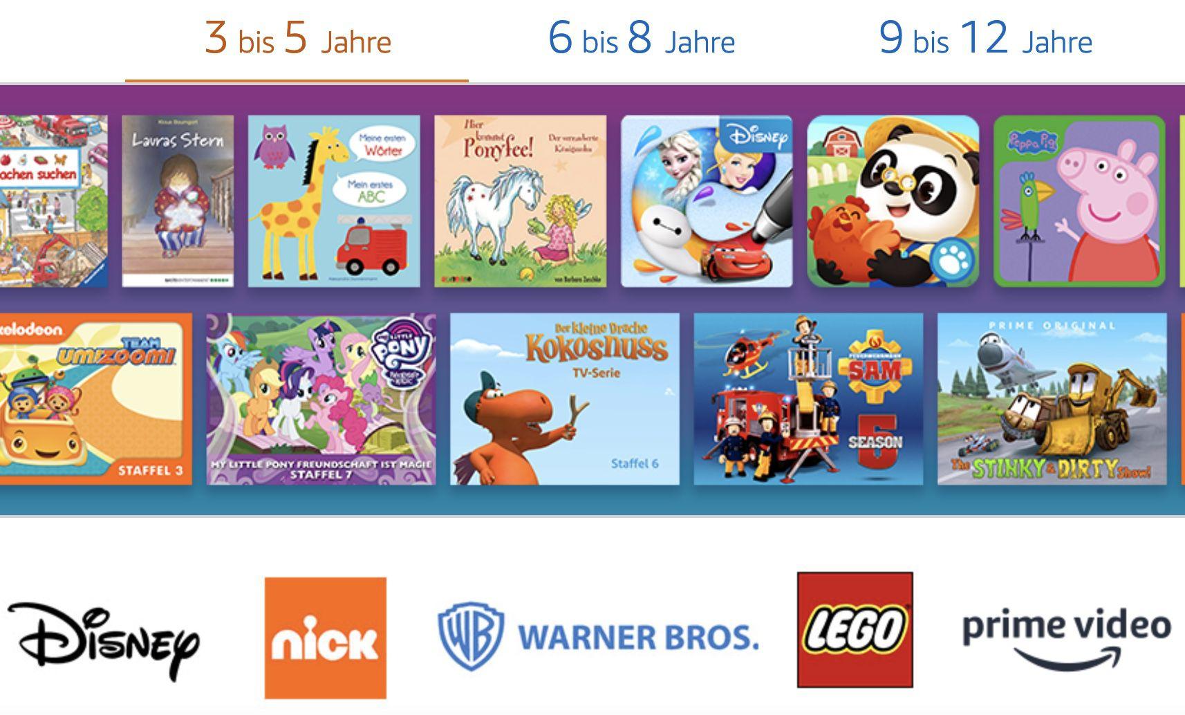 1 Jahr Amazon Kids+ (Familienzugang) für einmalig 24,99€ (statt 69€)