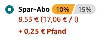 Pfandfehler: 12er Pack Rauch Eistee Zero Zitrone je 500ml für 8,53€ + einmalig 0,25€ Pfand