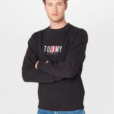 Tommy Jeans Sweatshirt Timeless in Schwarz für 29,99€ (statt 60€)