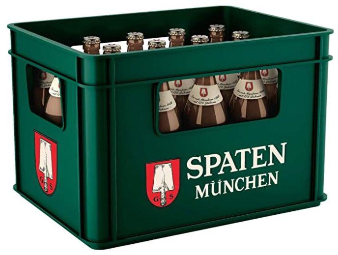 Kiste SPATEN Münchner Hell Flaschenbier für 12,06€ + 3,10€ Pfand   Prime Sparabo