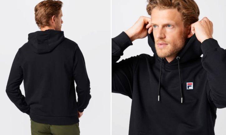 Fila Herren Sweatshirt Savva in Schwarz für 23,72€ (statt 47€)   S, M & L