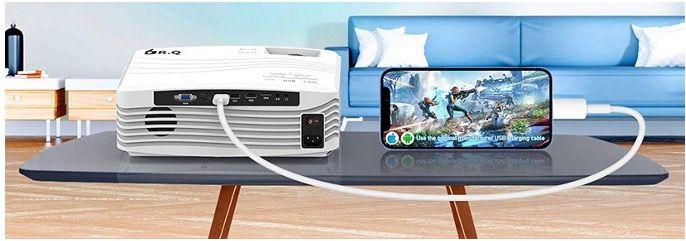 DR.Q WiFi Beamer mit 1080P Full HD inkl. Bildschirm Synchronisierung für 179,99€ (statt 240€)