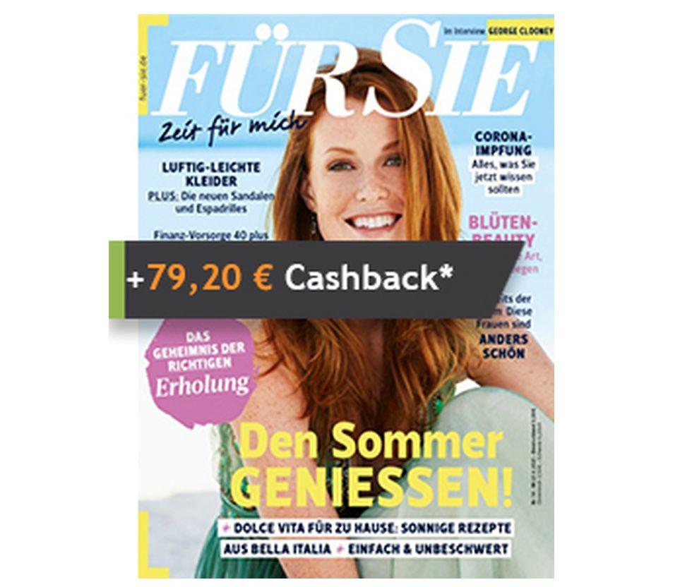 """26 Ausgaben """"Für Sie"""" Abo für 79,20€ + Prämie: 79,20€ Cashback"""