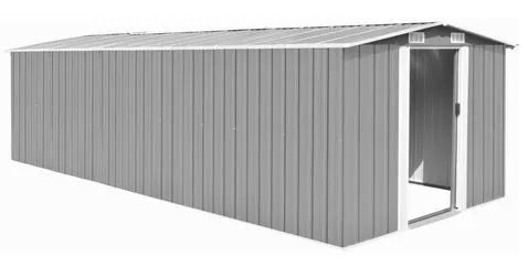 Fehler? vidaXL Metall Gerätehaus in Grau (257 x 580 x 181cm) für 135€ (statt 619€)