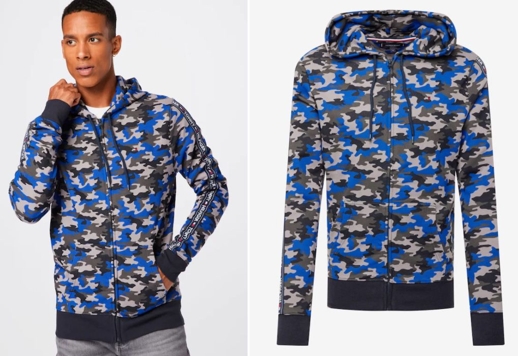 Tommy Hilfiger Camouflage Hoodie mit Reißverschluss für 26,90€ (statt 90€)   S, M, L