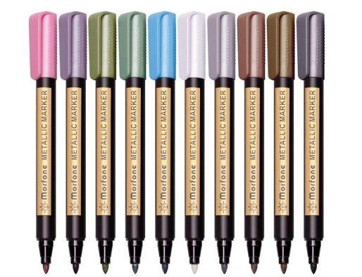 Morfone Metallic Marker Stifte in 10 Farben z.B. für Gästebücher für 5,99€ (statt 12€)