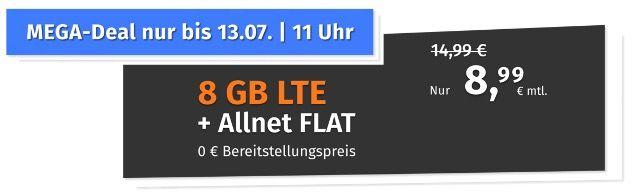 PremiumSIM o2 Allnet Flat mit 8GB LTE für 8,99€ (statt 15€) mtl.   auch ohne Laufzeit