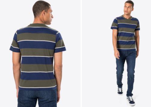 s.Oliver Herren T Shirt mit Streifenmuster bis Größe L für nur 5,90€ (statt 14€)