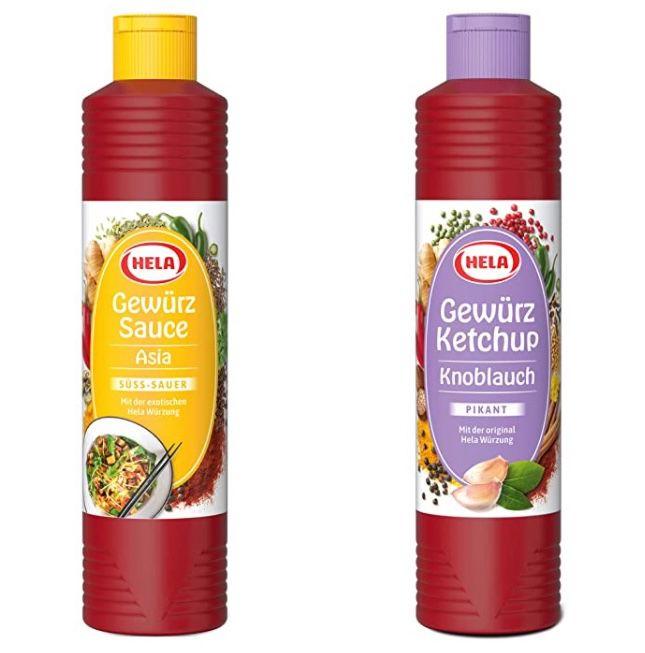 5x Hela Knoblauch oder Asia Gewürz Ketchup je 800 ml für 8,96€ (statt 13€)   Prime Sparabo