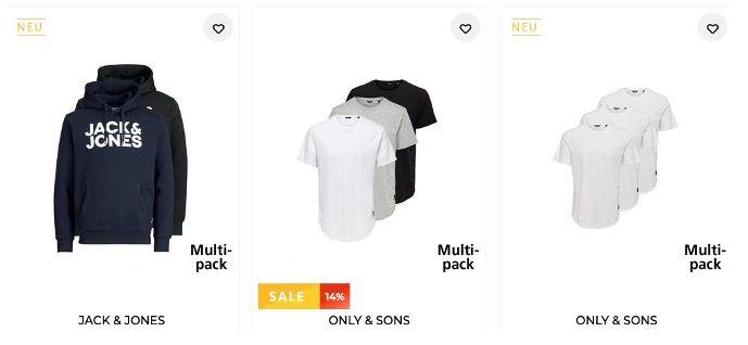 Multipacks bei Tara M mit 25% Extra Rabatt   z.B. 2x Jack&Jones Hoodies für 37,49€