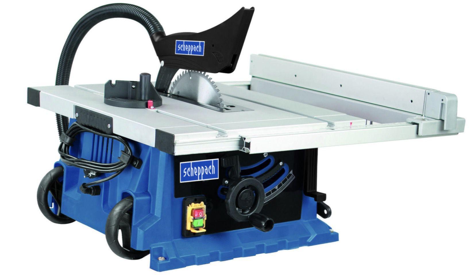 Scheppach Tischkreissäge HS105 2000W mit Untergestell für 219,95€ (statt 260€)
