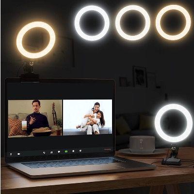 Karcore Laptop Ringlicht 360°drehbar mit Clip für z.B. Videokonferenzen für 6,80€ (statt 17€)