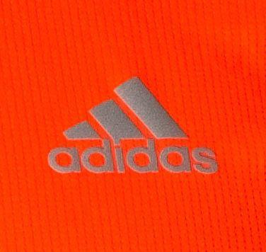 adidas Running 3 Stripes Herren Laufshirt in Orange für 10,99€(statt 16€)